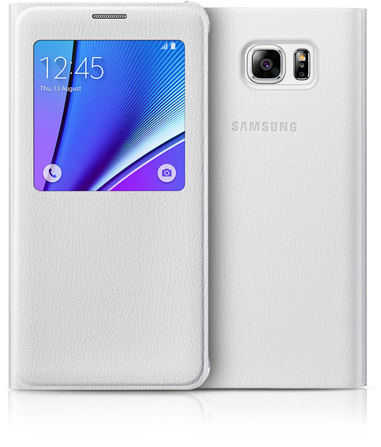 Samsung S-View Cover to suit Galaxy Note 5 EF-CN920PWEGWW (White)