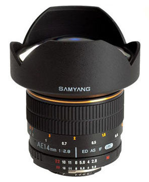 Samyang AE 14mm f/2.8 ED AS IF UMC Aspherical(Nik) Lens