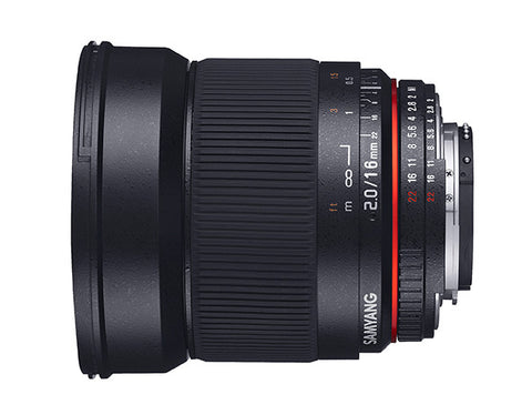 Samyang 16mm f/2.0 ED AS UMC CS Lens (Canon EOS M)