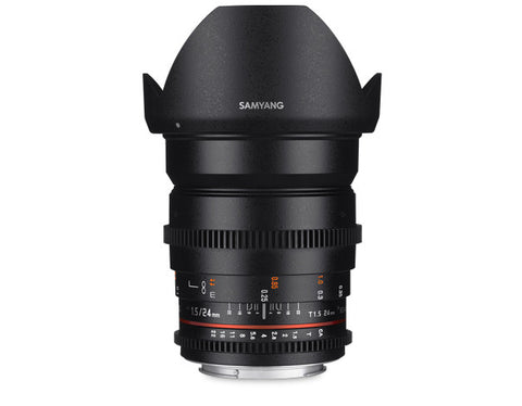 Samyang 24mm T1.5 VDSLR II for Canon
