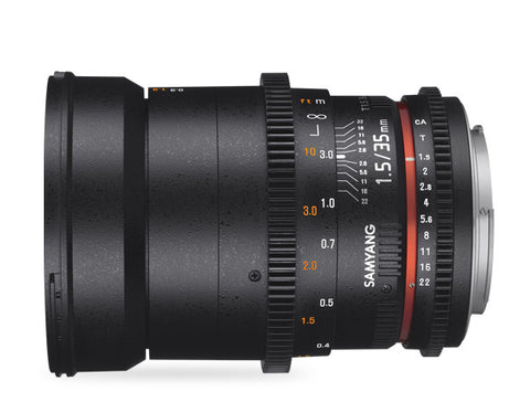 Samyang 35mm T1.5 VDSLR AS UMC MK II (Sony Nex) Lens