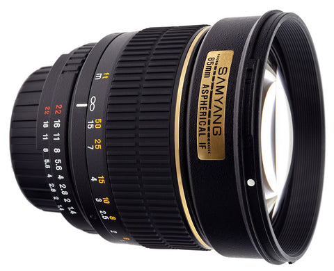 Samyang 85mm f1.4 Aspherical IF Lens for Panasonic, Olympus and 3/4 Mount