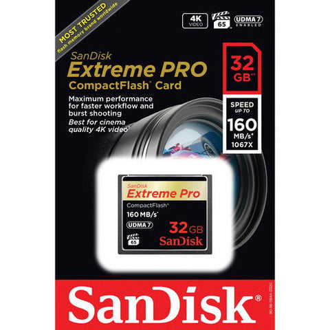 SanDisk Extreme PRO S 32GB SDCFXPS-032G (160MB/s) Memory Card