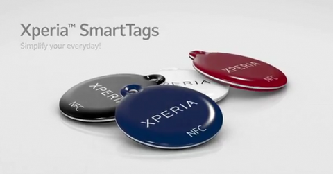 Sony NFC Smart Tags Black White Blue Red (Xperia S)