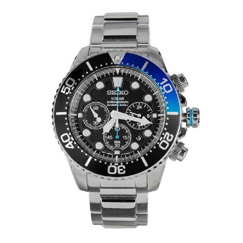 Seiko Solar Chronograph Divers SSC017 Watch (New with Tags)