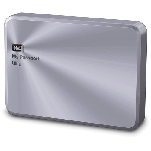 WD My Passport Ultra USB 3.0 1TB External Hard Drive (Metal Silver) WDBTYH0010BSL-PE