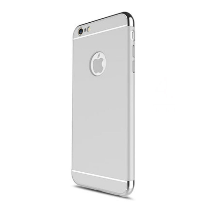 Hard Shell Case 5.5 inch for iPhone 6/6s Plus (Silver Steel Film)