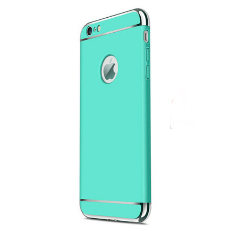 Hard Shell Case 5.5 inch for iPhone 6/6s Plus (Sky Blue Steel Film)