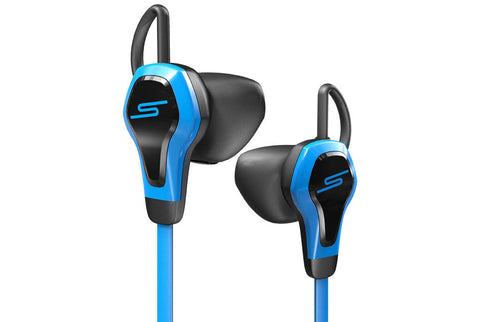SMS BioSport In-Ear Ear Bud with Heart Monitor Headset Blue