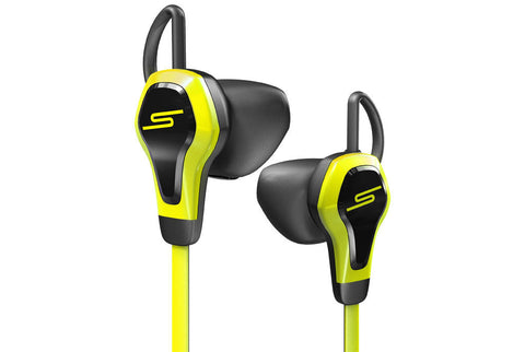 SMS BioSport In-Ear Ear Bud with Heart Monitor Headset Yellow