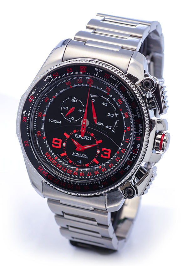 Seiko Kinetic Chronograph SNL067 Watch (New with Tags)