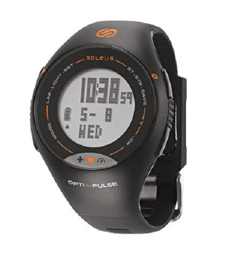 Soleus Pulse Running Watch (Black Orange)