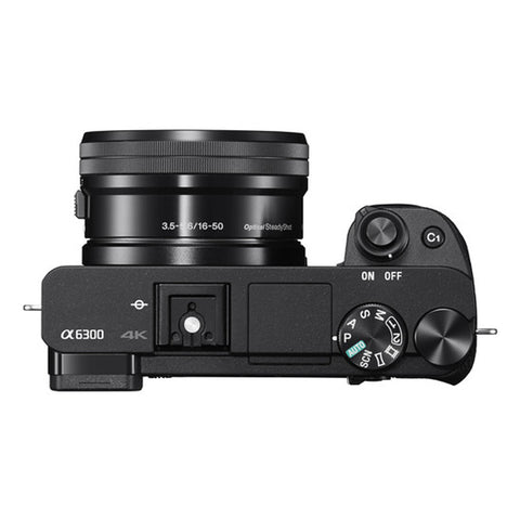 Sony Alpha A6300 ILCE6300L with 16-50mm Black Mirrorless Digital Camera