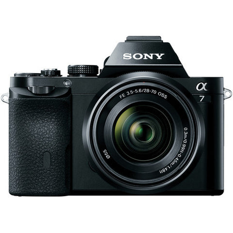 Sony Alpha A7 ILCE-7K with FE 28-70mm f3.5-5.6 OSS Lens Black Mirrorless Digital SLR Camera