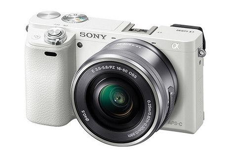 Sony Alpha A6000 ILCE-6000L with 16-50mm Lens White Mirrorless Digital Camera