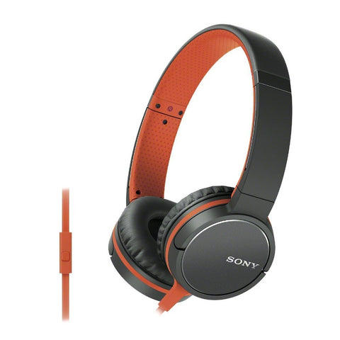 Sony Lightweight Headphone with Smartphone Control MDR-ZX660AP (Orange)