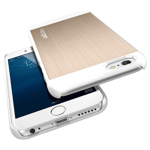 Spigen Aluminum Fit Series Case for IPhone 6 Plus Champagne Gold