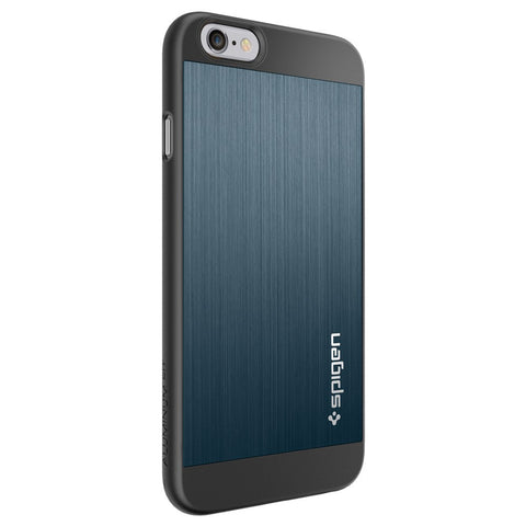 Spigen Aluminum Fit Series Case for IPhone 6 Plus Metal Slate