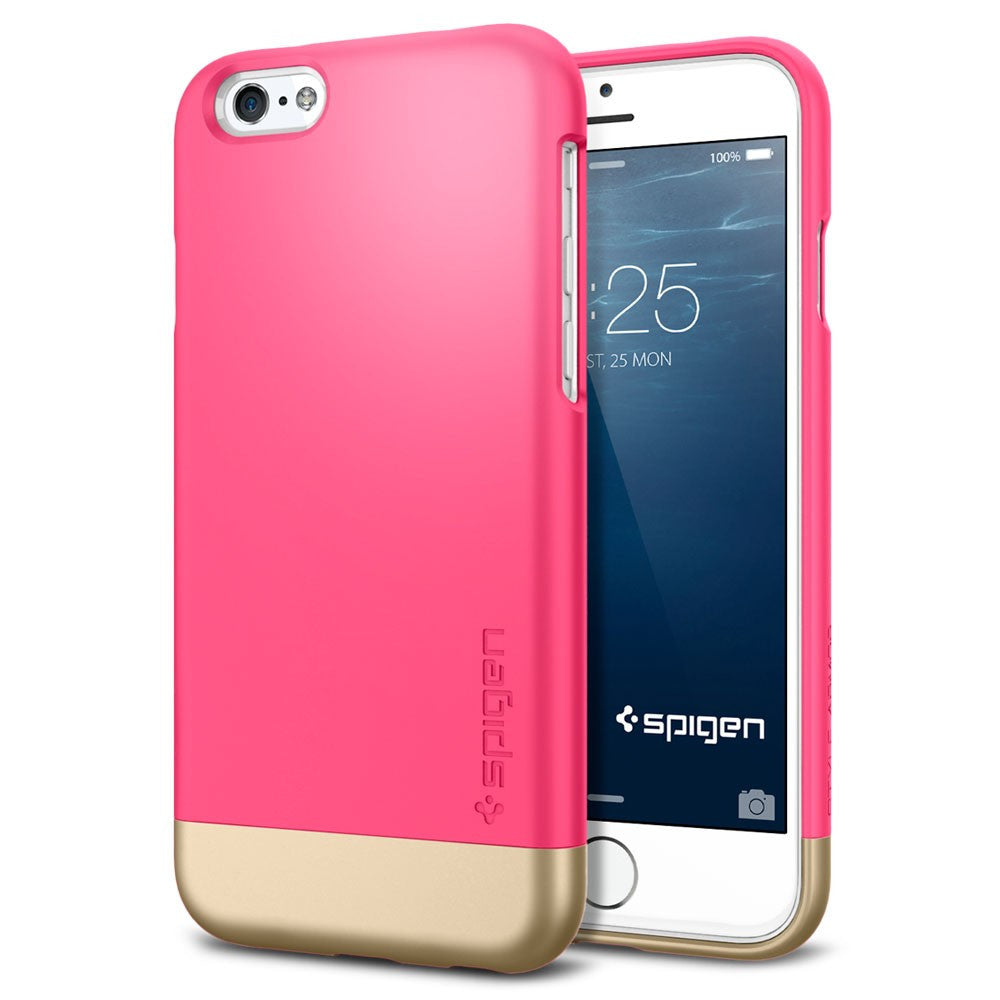 Spigen Style Armor Series Case for IPhone 6 (4.7 inches) Azalea Pink