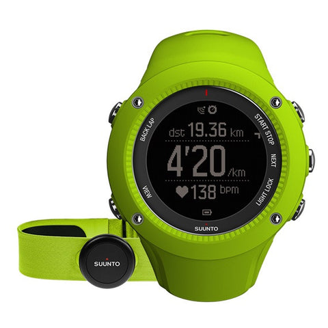 Suunto Ambit3 Run GPS Sports Watch HR SS021261000 (Lime)
