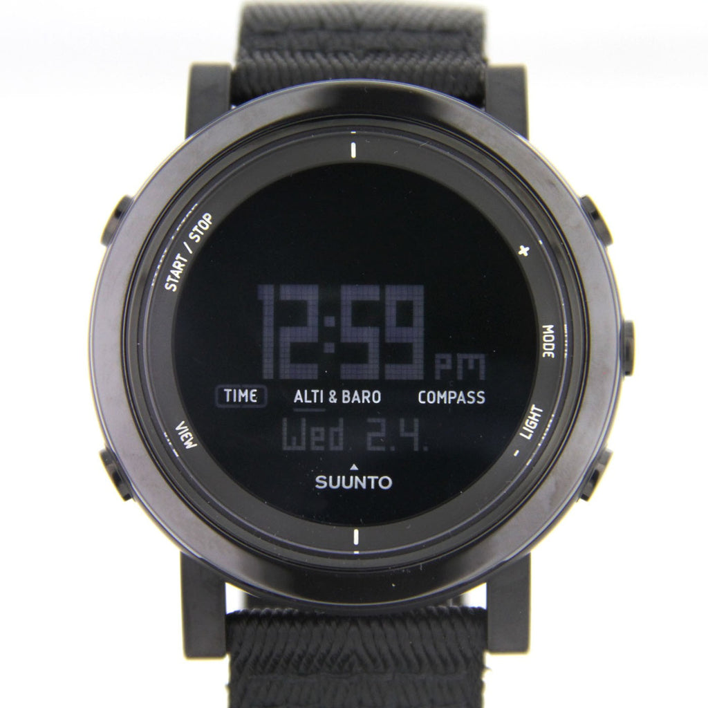 Suunto Essential Ceramic Premium Outdoor Watch SS022438000 (Black Textile)