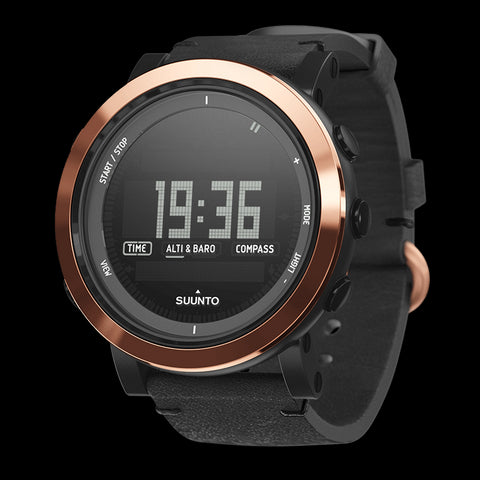 Suunto Essential Ceramic Premium Outdoor Watch SS022439000 (Copper Black Leather)