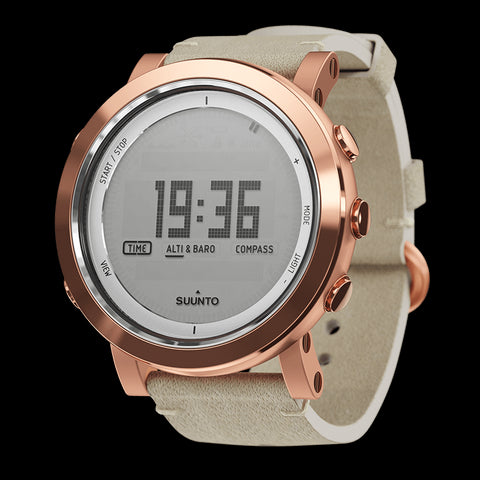 Suunto Essential Ceramic Premium Outdoor Watch SS022441000 (Copper Nude Leather)
