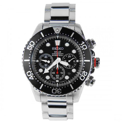Seiko Solar Chronograph Divers SSC015  Watch (New with Tags)