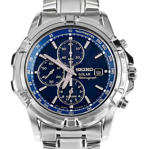 Seiko Solar Powered Chronograph SSC141 Watch (New with Tags)