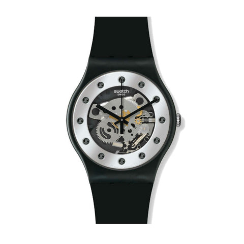 Swatch Silver Glam SUOZ147 Watch (New With Tags)