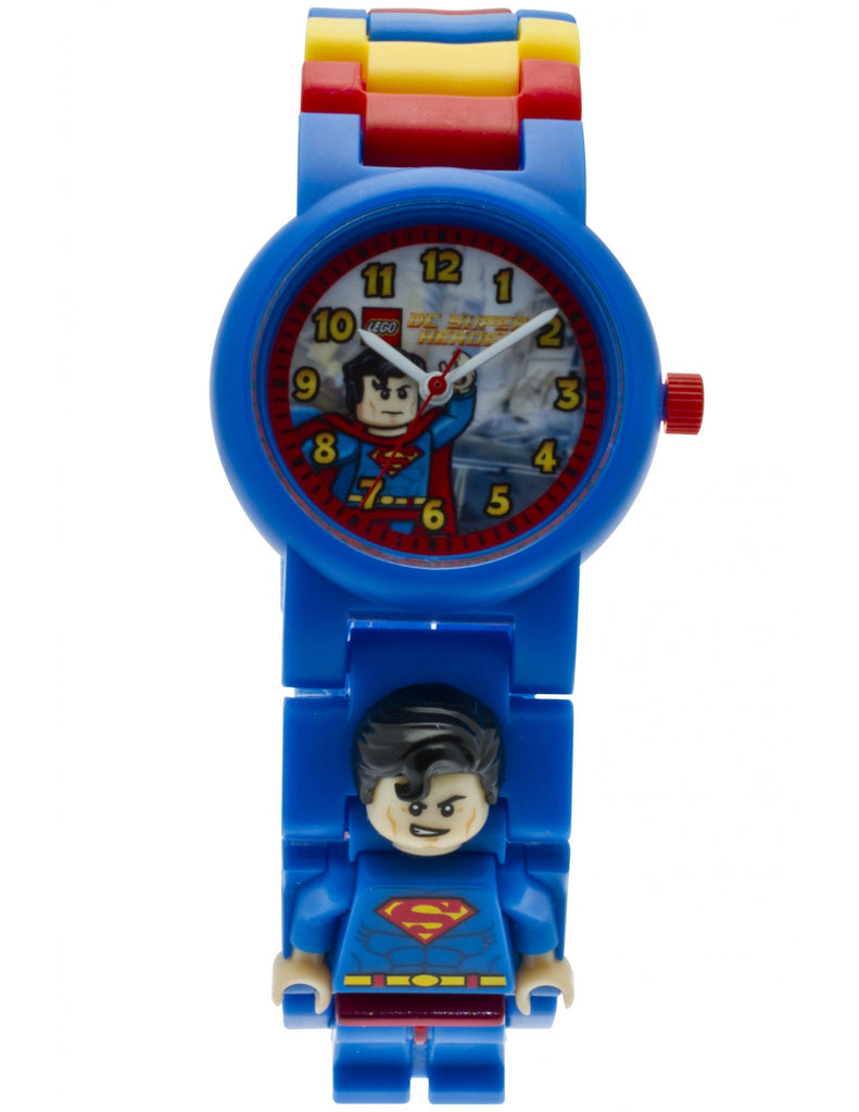 Lego DC Super Heroes Superman Minifigure Link 8020257 Watch (New with Tags)