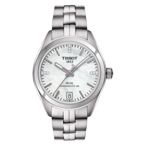 Tissot PR 100 Automatic Lady T1012071111600 Watch (New with Tags)
