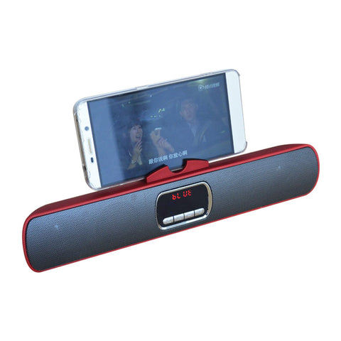 Mini Subwoofer Portable Bluetooth Speakers (Red Wine)