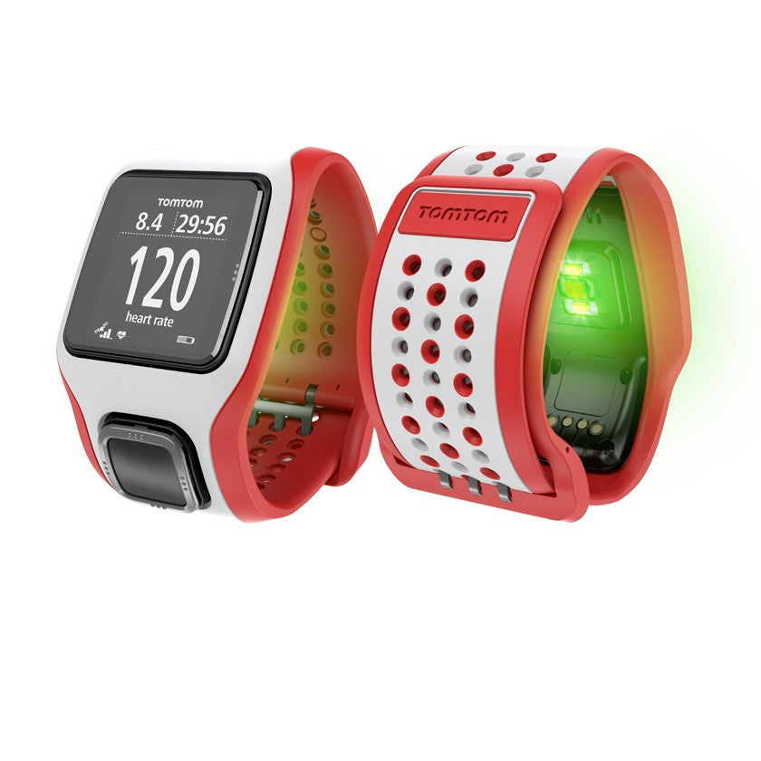 TomTom Multi-Sport GPS Watch with Built-in Heart Rate Monitor (Red/White)