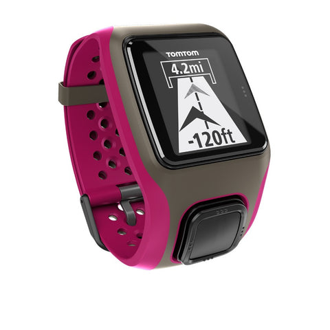 TomTom Multi-Sport GPS Watch with Heart Rate Monitor (Dark Pink)