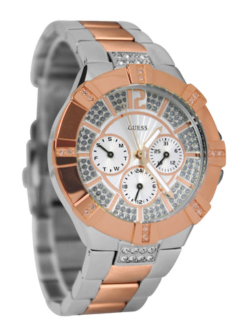 Guess Dazzling Two-Tone Sporty Chic U0024L1 Watch (New With Tags)
