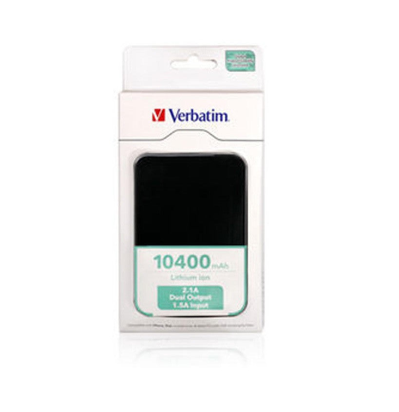 Verbatim 10400 mAh Lithium Power Pack (Black)
