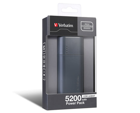 Verbatim 5200 mAh Power Pack (Grey)