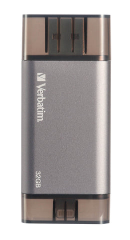 Verbatim Lightning OTG USB 32GB Flash Drive (Black)
