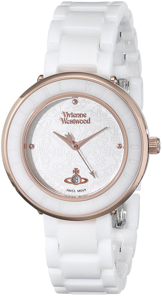 Vivienne Westwood Orb London Ceramic VV124WHWH Watch (New with Tags)