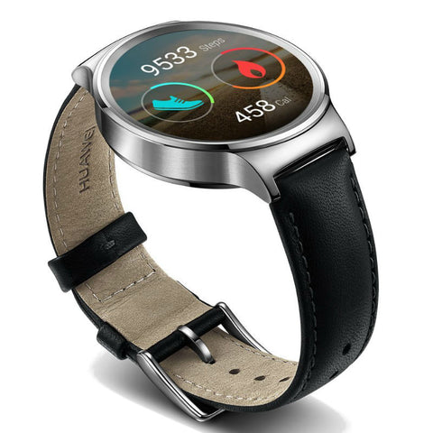 Huawei Stainless Steel Leather Smart Watch (Black)