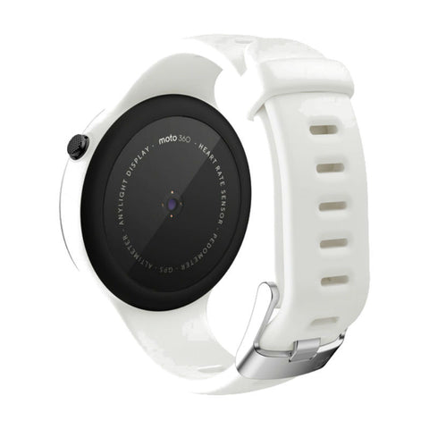 Motorola Moto 360 Sport 45mm Silicon Smart Watch (White)