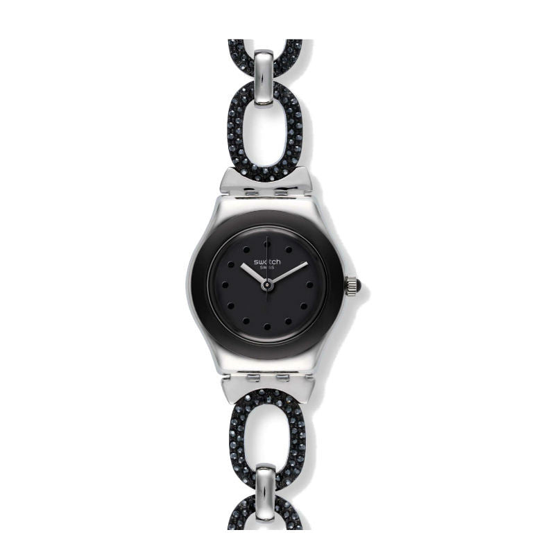 Swatch Black Glitter YSS293G Watch (New with Tags)
