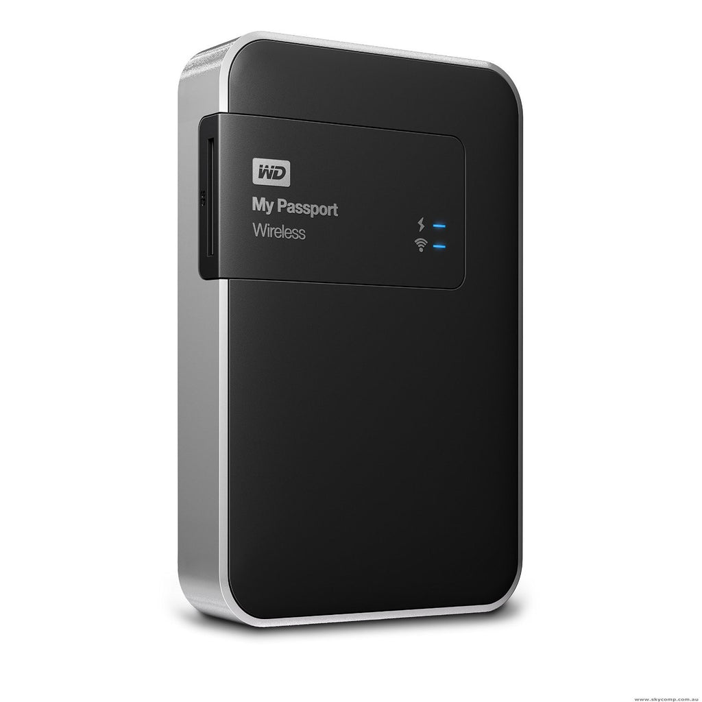 WD Elements My Passport Wireless USB 3.0 2TB External Hard Drive WDBDAF0020BBK-CESN