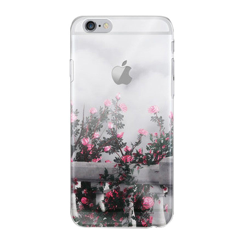 Hard Transparent Case 4.7 inch for iPhone 6/6S (Western Europe Rose)