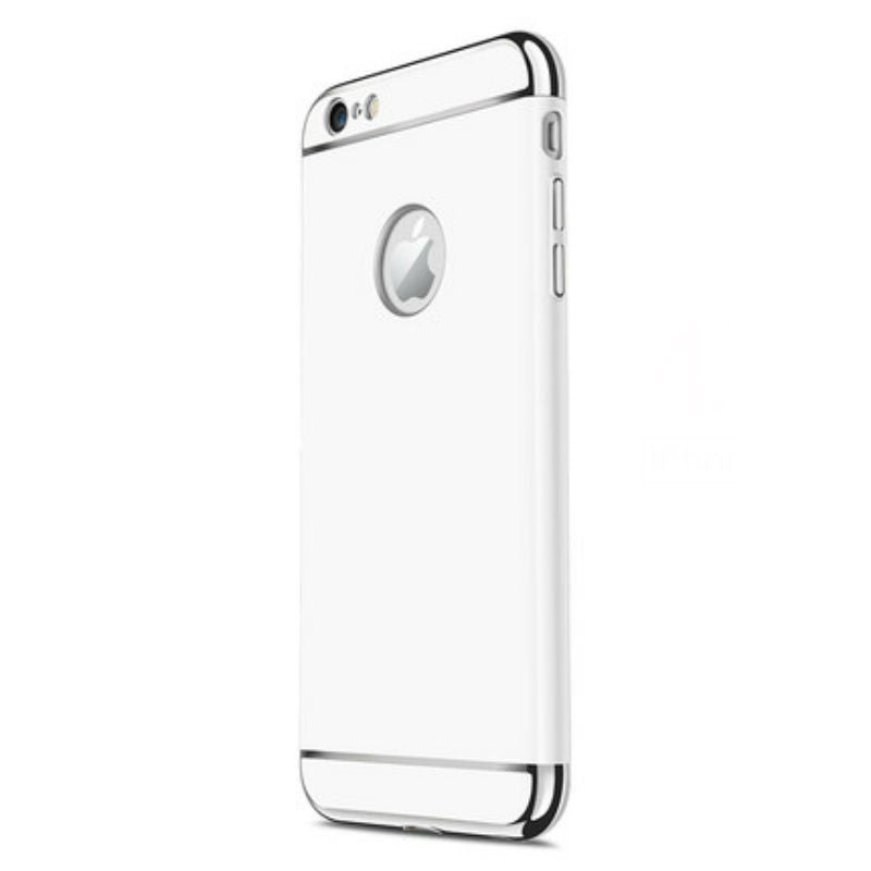 Hard Shell Case 5.5 inch for iPhone 6/6s Plus (White Steel Film)