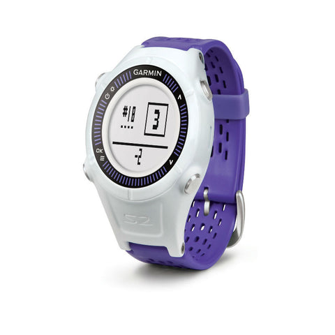 Garmin Approach S2 010-01139-02 Golf Watch (White/Violet)