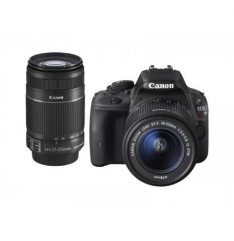 Canon EOS Kiss X7 with 18-55mm and 55-250mm Black Digital SLR Camera