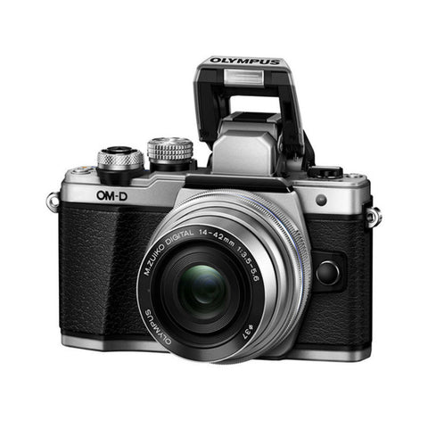 Olympus OM-D E-M10 II with 14-42mm EZ and 40-150mm Lens Silver Digital SLR Camera