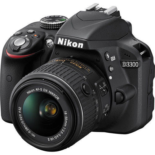 Nikon D3300 Kit con 18-55mm VR II Lenti Nero Digital SLR Camera - MobiCity Italia